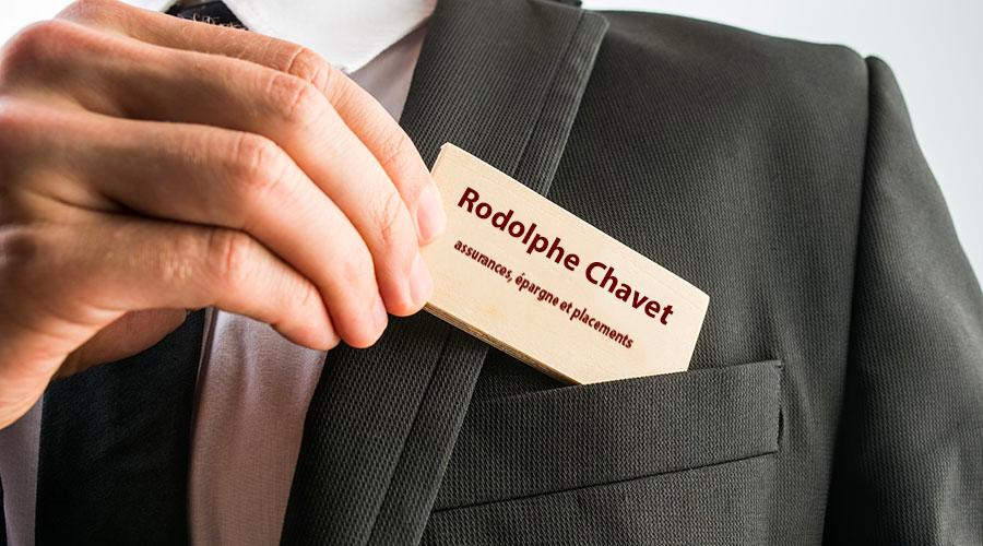 Chavet Rodolphe courtier carte de visite